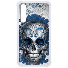 Capa para Samsung Galaxy A7 2018 Case2you - Caveira Azul Antishock