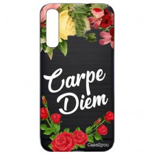 Capa para Samsung Galaxy A7 2018 Case2you - Escovada Preta Carpe Diem Black