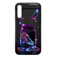 Capa para Samsung Galaxy A7 2018 Case2you - Escovada Preta Cup in Space