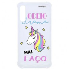 Capa para Samsung Galaxy A7 2018 Case2you - Odeio Drama Antishock