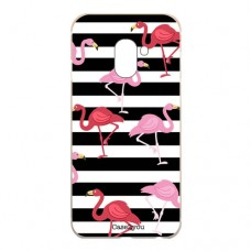 Capa para Samsung Galaxy A6 2018 Case2you - Flamingos Listrado
