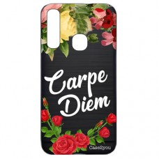 Capa para Samsung Galaxy A9 2018 Case2you - Escovada Preta Carpe Diem Black
