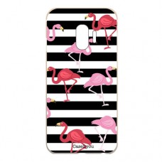 Capa para Samsung Galaxy J2 Pro 2018 Case2you - Flamingos Listrado
