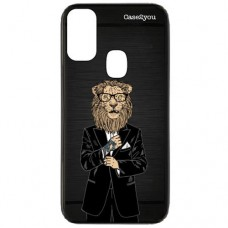 Capa para Samsung Galaxy M30s Case2you - Escovada Preta Lion Of Suite