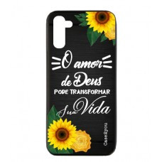 Capa para Samsung Galaxy Note 10 Case2you - Escovada Preta O Amor