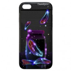 Capa para iPhone 7 e 8 Case2you - Escovada Preta Cup in Space