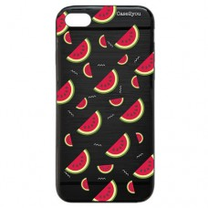 Capa para iPhone 5 e SE Case2you - Escovada Preta Melancias