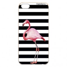 Capa para iPhone 5 e SE Case2you - Flamingo Listrado