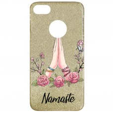Capa para iPhone 6 Plus Case2you - Namaste Gliter Dourada