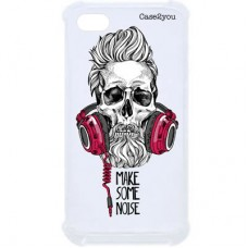 Capa para iPhone 6 Case2you - Caveira com Fone Antishock