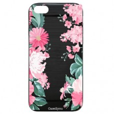 Capa para iPhone 6 Case2you - Escovada Preta Floral