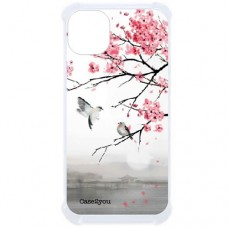 Capa para iPhone 11 Case2you - Antishock Cerejeira Pássaros