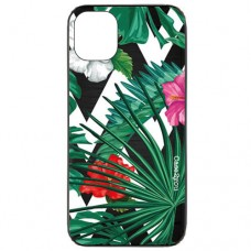 Capa para iPhone 11 Case2you - Escovada Preta Flowers