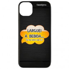 Capa para iPhone 11 Pro Max Case2you - Escovada Preta Larguei a Bebida