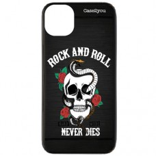 Capa para iPhone 11 Pro Max Case2you - Escovada Preta Rock and Roll