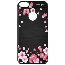 Capa para iPhone 6 Case2you - Escovada Preta Flores