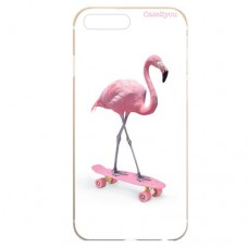 Capa para iPhone 7 e 8 Plus Case2you - Flamingo Skatista
