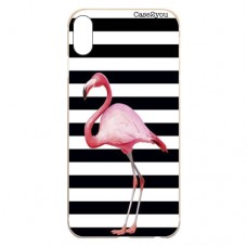 Capa para iPhone X e XS Case2you - Flamingo Listrado