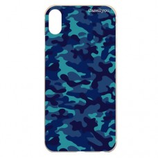 Capa para iPhone X e XS Case2you - Camuflada Azul