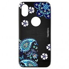Capa para iPhone XS Max Case2you - Escovada Preta Flores Tribais