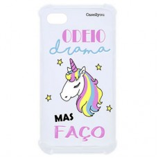 Capa para iPhone 7 e 8 Case2you - Odeio Drama Antishock