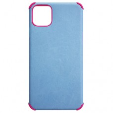 Capa para iPhone 11 Pro Max - Antishock Leather Pink Azul Clara