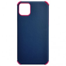 Capa para iPhone 11 Pro Max - Antishock Leather Pink Azul Marinho