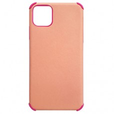 Capa para iPhone 11 Pro Max - Antishock Leather Pink Rosa