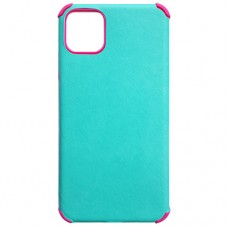 Capa para iPhone 11 Pro Max - Antishock Leather Pink Verde