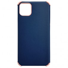 Capa para iPhone 11 Pro Max - Antishock Leather Rosa Azul Marinho