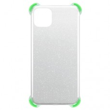Capa para iPhone 11 - Gel Antishock Gliter Verde