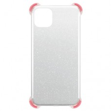 Capa para iPhone 11 - Gel Antishock Gliter Vermelha