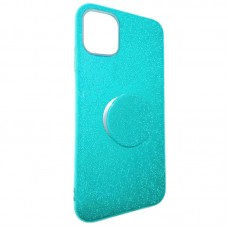 Capa para iPhone 11 - Gliter New com Pop Socket Azul