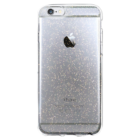 Capa para iPhone 6 Plus - Silicone Gel com Gliter Dourada