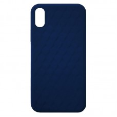 Capa para iPhone XS Max - Case Silicone Padrão Apple 3D Midnight Blue