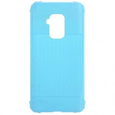 Capa para Motorola Moto One Zoom - Emborrachada Color Force Azul Claro