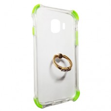 Capa para Samsung Galaxy J2 Core - Silicone Antishock com Ring Stent Verde