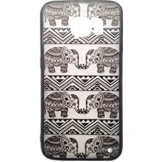 Capa para Samsung Galaxy S6 Edge G925 - Ultra Fashion Grafite Elefante Tribal