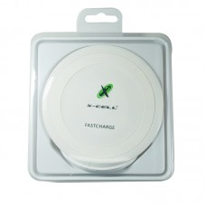 Carregador Wireless Fast Charge + Adaptador Lightning X-Cell XC-W-3 - Branco