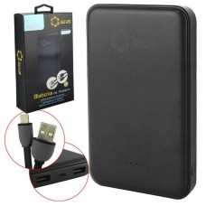 Power Bank + Cabo Lightning e V8 Lotus 10000 mAh LT-989 2 USB - Preta