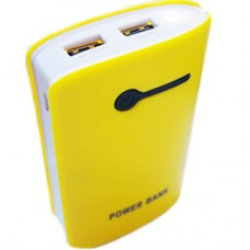 Power Bank OL 2 USB + Lanterna - Amarela