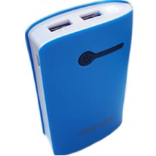 Power Bank OL 2 USB + Lanterna - Azul