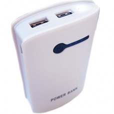 Power Bank OL 2 USB + Lanterna - Branca