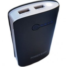 Power Bank OL 2 USB + Lanterna - Preta