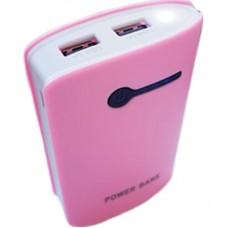 Power Bank OL 2 USB + Lanterna - Rosa