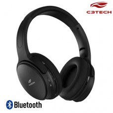 Fone de Ouvido Headphone Bluetooth 5.0/Aux P2 Cadenza PH-B-500BK C3 Tech Preto
