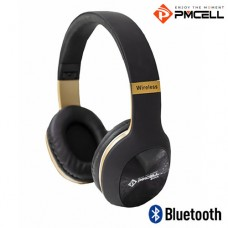 Headphone Bluetooth/P2/SD e Rádio FM PMCELL HP-43 Preto Bronze