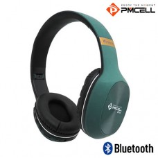 Headphone Bluetooth/P2/SD e Rádio FM PMCELL HP-43 Preto Verde