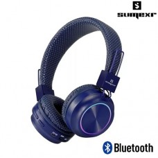 Headphone Bluetooth Estéreo c/ Microfone Integrado SLY-06 Sumexr - Azul