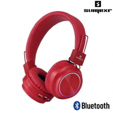 Headphone Bluetooth Estéreo c/ Microfone Integrado SLY-06 Sumexr - Vermelho